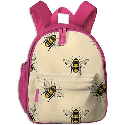 Arallaw Schulrucksack, niedliche Honig-Bienen-Cartoon-Rucksäcke