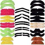 TE-Trend 34 bigotes de bigote y bigote para carnaval, autoadhesivos, multicolor