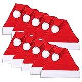 Schramm® 10 pzs. Gorras de Navidad 30x41cm Gorra de Papá Noel Gorra de Papá Noel 10-Pack