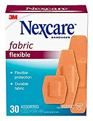 Nexcare Heavy Duty Flexible Fabric Bandages, Assorted Sizes, 30 Count Packages (Pack of 4)