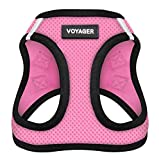 Voyager Step-in Air Dog Harness - All Weather Mesh, Step in Vest Harness for Small and Medium Dogs by Best Pet Supplies, Pink Base, XL (Chest: 21 - 23') (207-PKB-XL)
