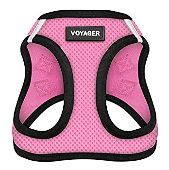 Voyager Step-In Air Dog Harness - All Weather Mesh Step in Vest Harness for Small and Medium Dogs by Best Pet Supplies - Pink Base S  Chest  14.5 - 16