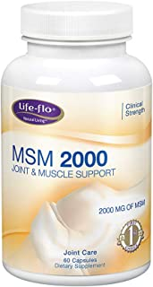 Life-flo MSM 2000 mg Joint & Muscle Support for Comfort & Mobility | Maximum Strength Formula | 60 Capsules, 30 Servings
