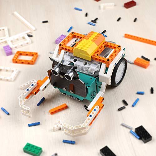 ELEGOO Owl Smart Robotic Car Kit with Nano V4, Line Tracking Module,Infrared Photoelectric Sensor、Ultrasonic Sensor etc. Intelligent and Educational Toy Car Robotic Kit Compatible with Arduino Learner