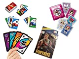 ML Pack de 4 Juegos de Cartas Uno, Juego de Mesa para niños y Adultos (Rojo)