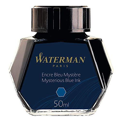 ウォーターマンボトルインクミステリアスブルー(ブルーブラック)S011079050ml正規輸入品