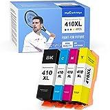 myCartridge Remanufactured Ink Cartridge Replacement for Epson 410XL 410 XL Use in Epson Expression Premium XP-630 XP-830 XP-635 XP-530 Printer (1 Black 1 Cyan 1 Magenta 1 Yellow, 4-Pack)