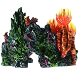 Gather together Resin Coral Plant Shell Reef Mountain Fish Tank Cave Aquarium Ornament Decor