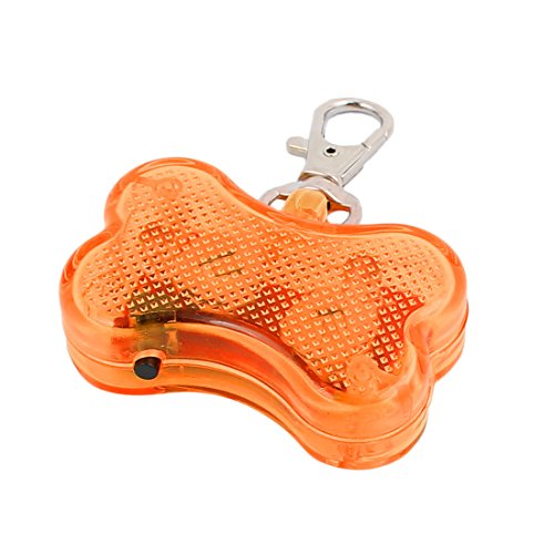 Aexit Orange LED Knochenform Hund Blinker Blinkende Sicherheit Anhänger Kragen Geschenk (210872266b99af78da9c01636474a1bf)