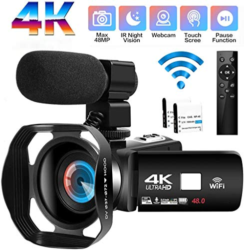 Camcorder Videokamera 4K Ultra HD 48MP WiFi Camcorder,3.0