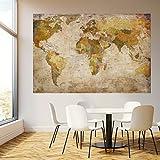 murimage Papel Pintado Mapa Mundi 183x127 cm Incluyendo Pegamento Sala de Estar histórico Viejo países worldmap Vintage Fotomurales