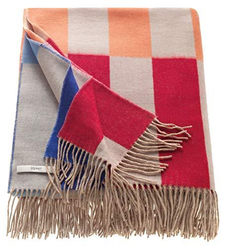 ESPRIT Casey & Rod Plaid Decke Tagesdecke Kuscheldecke Wohndecke Couchdecke Sofadecke - Größe 150 x 180 cm - Farben bunt