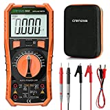 Digital Multimeter, Crenova multi testers, TRMS Volt Meter 6000 Counts, Ohmmeter, Frequency with probe tester, Resistance Testers for Home, Automotive, Motorcycle battery, Lab Use with Hard case