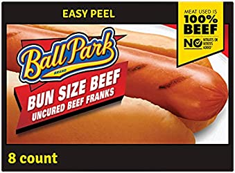 Ball Park Bun Size Beef Hot Dogs, 8 Count