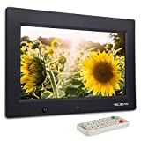 TEC.BEAN 10.1 Pollici Cornice Foto Digitale 8G di Memoria Rilevatore di Movimento Lettore MP3 e Video (Nero)