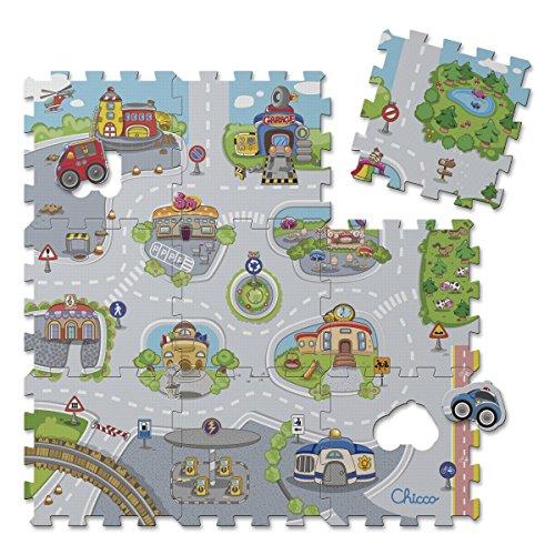 Chicco- Città Tappeto Puzzle, Multicolore, 7163000000