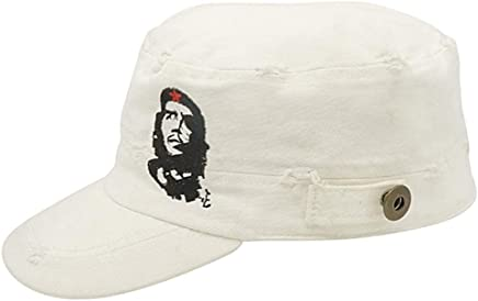 ff70081f091 Che Guevara Store The Distressed Military Cap - White - w emb Che   Star