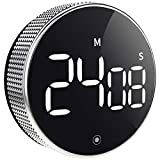 OVEKI Kitchen Timer, Magnetic Countdown LED Digital Timer,Twist One Button Operation for Teacher Kids and Elderly,for Classroom Home Work Fitness (with Brightness Switch)
