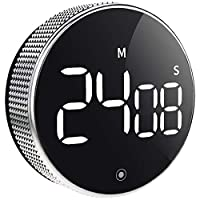 timer da cucina, conto alla rovescia magnetico, timer digitale a led, pulsante per insegnanti e anziani, per il lavoro domestico in classe (con interruttore di luminosità)