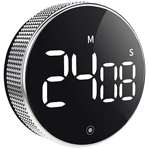 OVEKI Küchentimer Digitaler Eieruhr,Magnetisch Küchenuhr Kurzzeitwecker mit LED konstantes Licht Bildschirm und Lauter Piepser,Ideal Küchen Timer zum Kochen, Backen, Sport, Studieren (3 Inch)