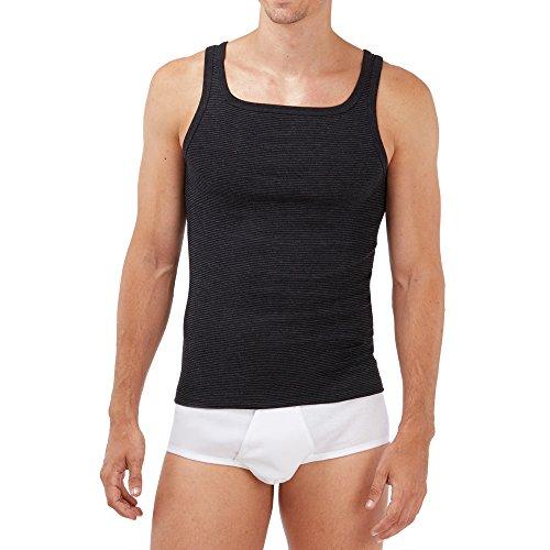SCHÖLLER Herren Unterhemd ohne Arm 5er Pack l 146-600 l Größe 7 (XL) l Farbe Schwarz-Melange