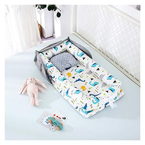 Cojín para cuna recién nacido, para cochecito de bebé, con bolsa de viaje, portátil, parque de juegos de cama Bebe (color: 12)