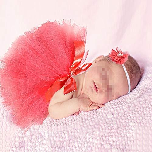 Butterme Nouveau-né Bébé Infant Shopping Soutien-Gorge Costume Tenue Tutu Jupe Outfits Fleur Headband Set