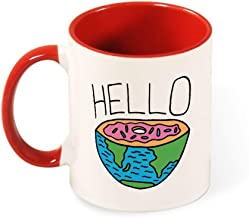 Beautiful Color Mug Inside And Handle Hello Doughnut tea cup coffee cup red-hello1