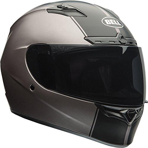 Bell Qualifier DLX Full-Face Motorcycle Helmet (Rally Matte Titanium/Black, Medium)