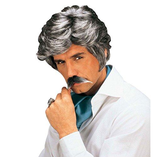 Para hombre gris peiuca Casanova Playboy en el carnaval de los hombres de la peluca con barba gris de la peluca de la peluca gris Carnaval