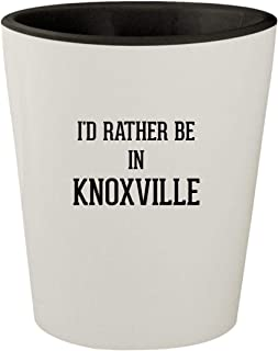 I'd Rather Be In KNOXVILLE - White Outer & Black Inner Ceramic 1.5oz Shot Glass