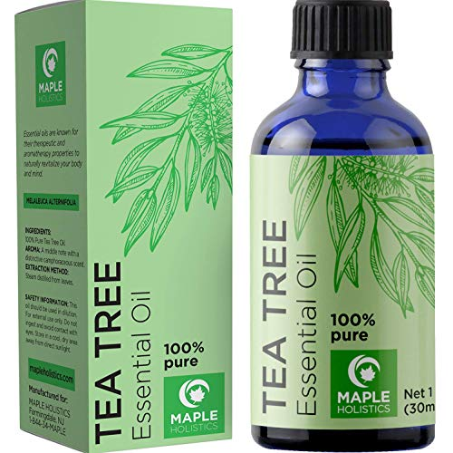 Pure Tea Tree Oil Natural Essential Oil with Benefits for Face Skin...