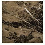EZ FAUX DECOR Self Adhesive Dark Emperador Brown Marble Granite Peel and Stick Instant Countertop Update 36' x 144' Roll Removable Thick Waterproof Vinyl Laminate Film Not Paint