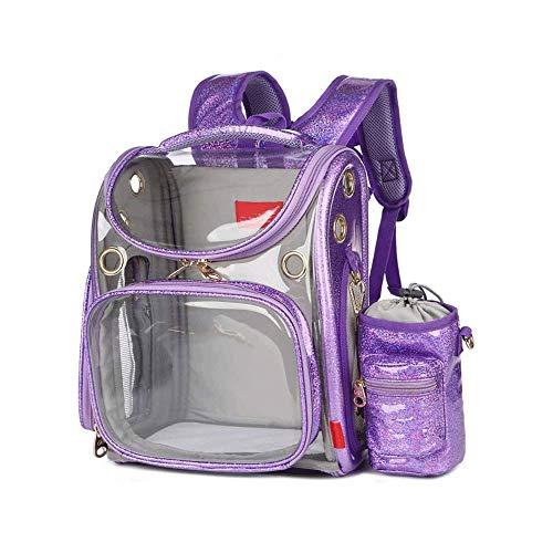 WWQQ Mochila Transpirable de Viaje por Mascotas portátil, diseño de Espuma de cápsula de Espacio y Mochila de Bolso Impermeable del Perrito (Color: a)