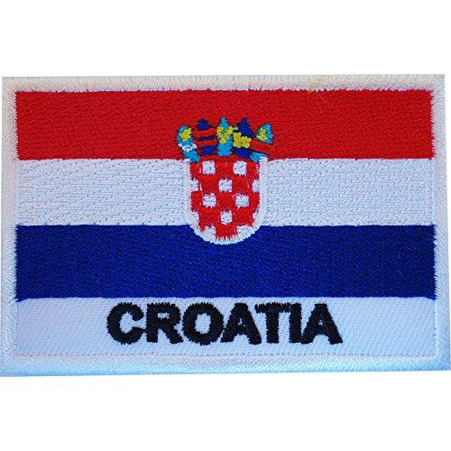 Aufnäher mit Kroatien-Flagge, zum Aufbügeln oder Aufnähen, bestickt