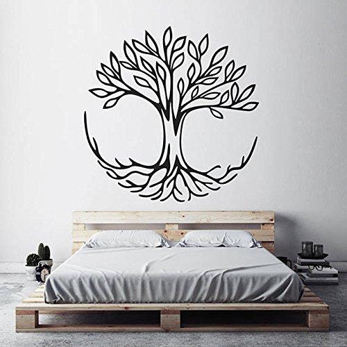 Baum des Lebens Wandaufkleber verbundenes Symbol spirituelles Yoga Hauptdekoration Wohnzimmer Vinyl Wandaufkleber Schlafzimmer Kunstdekoration A2 57x57cm