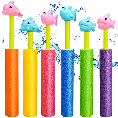 Water Guns,Pool Noodles Toy with Plastic Handle