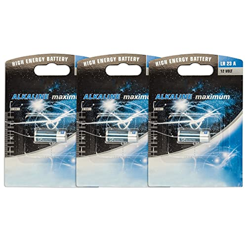Akku-King 3 x Batterie Alkali A23 LR23A, MN21, L1028, VA23A, LRV 08, 4223, CN23A, VR22, EL12-12V