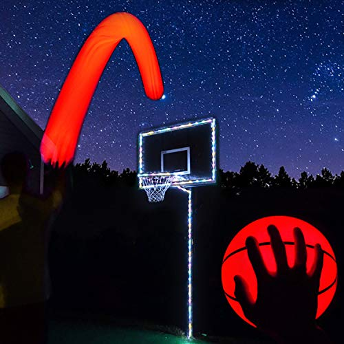 Read About GlowCity Light Up Basketball Hoop Kit with LED Basketball - Multi Color, Size 7 Basketbal...