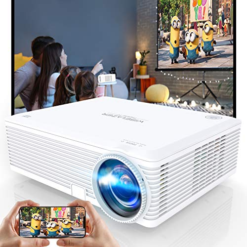 WISELAZER Proyector, Proyector WiFi Que Protege Sus Ojos con Nativo 1920 * 1080p, Soporta 4K, Full HD Portatil Proyector led Compatible con Chromecast, TV Box, Fire Stick, Laptop, Ps4, Smartphone