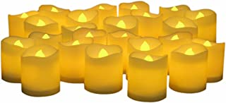 【電池付き】 LED キャンドルライト 24個セット 雰囲気 癒し ロウソク 蝋燭 ゆらぎ ティーライトキャンドル クリスマス/パーティー/結婚式/誕生日用