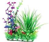 JJDSN Plantas acuáticas Falsas de plástico Emulational Plástico Duradero Modelo de arroz Realista Plantas acuáticas Falsas para la decoración del Tanque de Peces Acuario