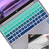 Lapogy HP Stream 11 Laptop Keyboard Cover Compatible Latest 2011-2019 HP Stream 11 Laptop PC 11.6'/HP Stream 11-ak0010nr ak0012dx ak0020nr ak1012nr,HP Stream 11 Accessories(gradualgreenblue+Clear)