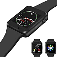 Qidoou Smart Watch, Bluetooth Smartwatch Compatible Smartphone, Fitness Tracker Step Calorie...