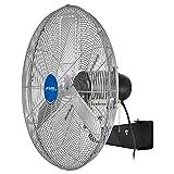 """Global Industrial Deluxe Oscillating Wall Mount Fan, 30"""" Diameter, 1/2HP, 10,000CFM"""