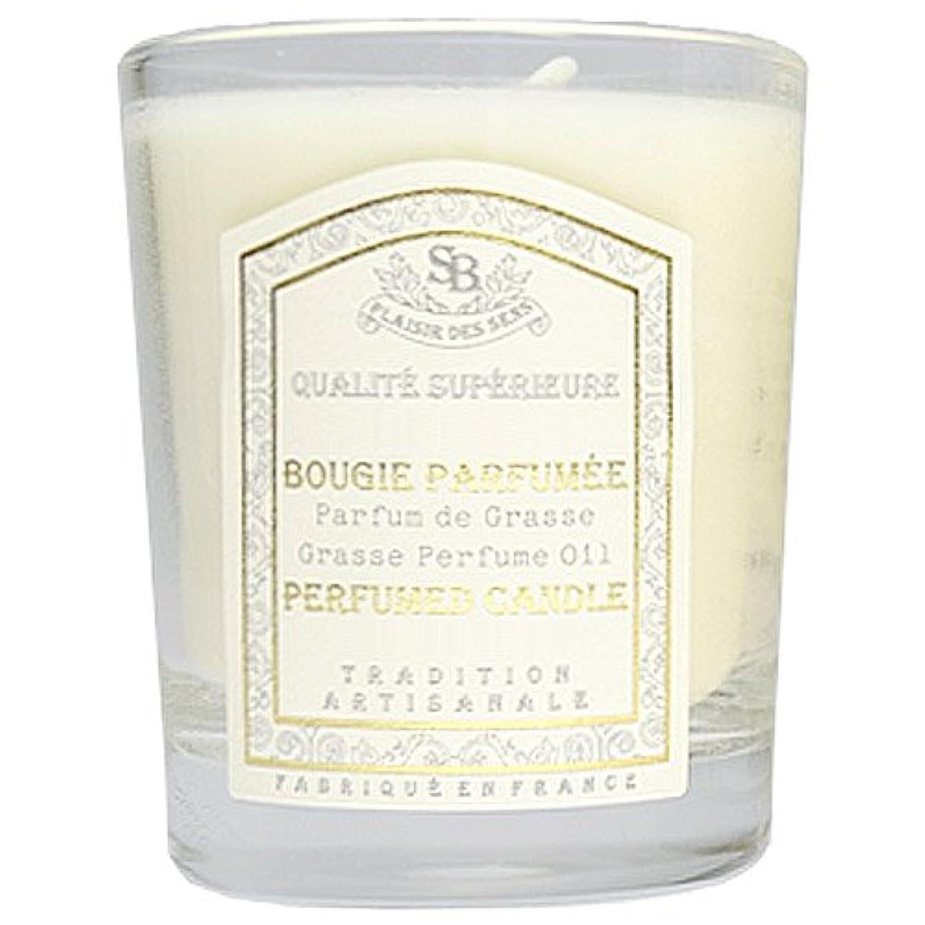 香水忘れっぽいバッジSenteur et Beaute(サンタールエボーテ) フレンチクラシックシリーズ グラスキャンドル 90g 「ホワイトティー」 4994228021991