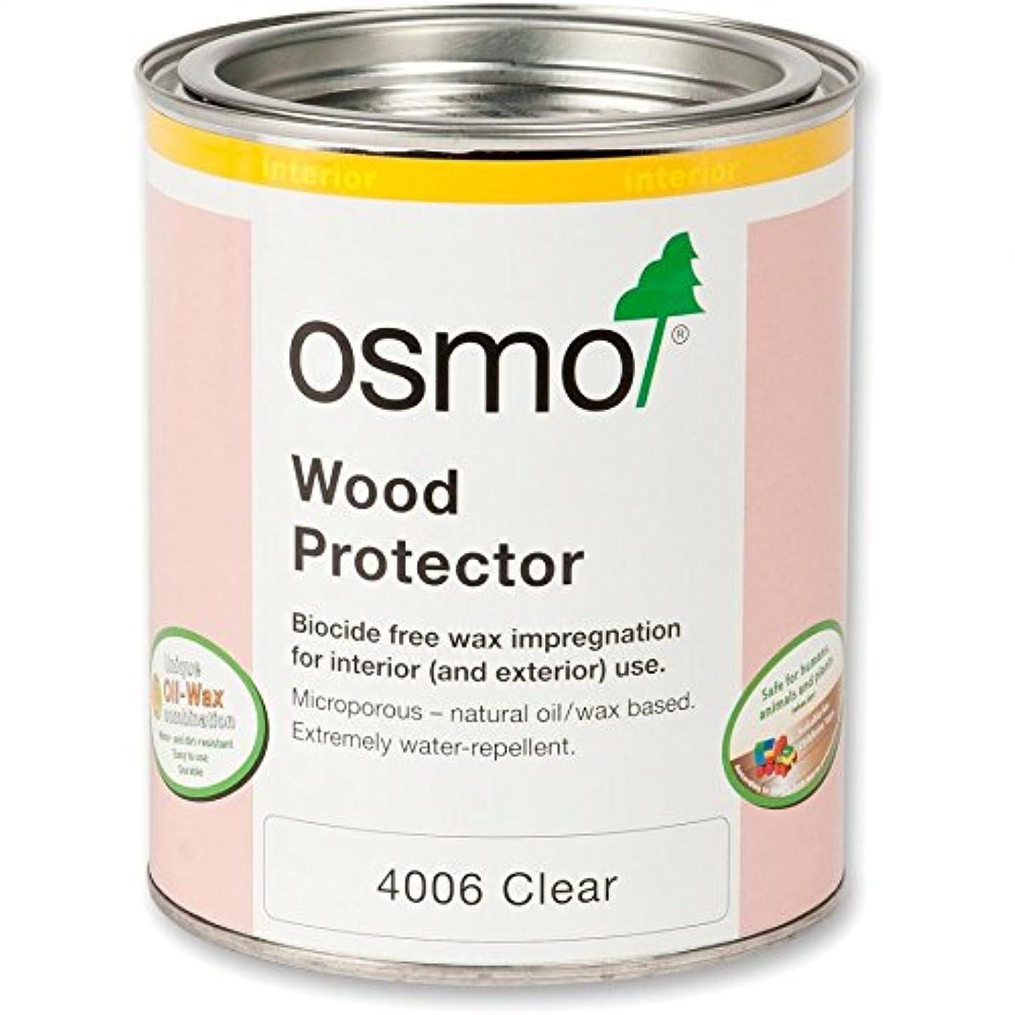 うん花弁シャンプーオスモ オスモカラー ウッドワックス#4006ウッドプロテクター(防カビ用下塗り) 750ml