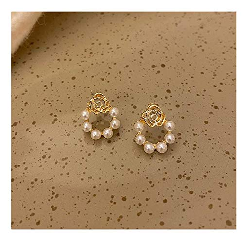 Pendientes de perlas Pendientes de perlas NUEVO moderno simple Coreano Temperament Net Red Pendientes de alta gama Mujer Pendientes pequeños de plata esterlina Pendientes de perlas de agua dulce