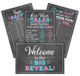 Gender Reveal Party Game Decoration Kit Includes 4- 11'...
