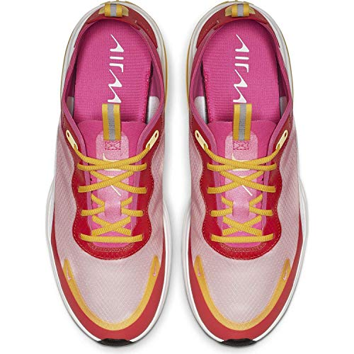 Price comparison product image Nike Womens Air Max Dia Running Shoes (8,  White / Laser Fuschia / Ember Glow)
